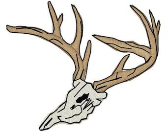 Buck Skull Rack Embroidery File
