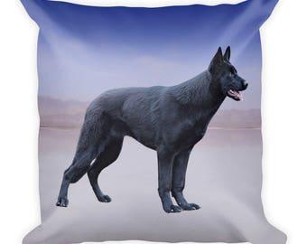 Black German Shepherd Square Pillow