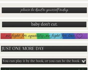 ALL 7 Suicide Prevention / Self love Bracelet Bundle :)