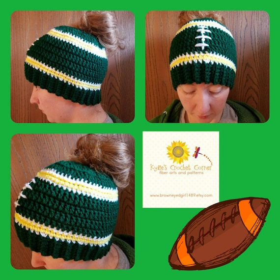 Football Mom, Messy Bun Hat Beanie, Football Girl, Tailgating Clothes, Christmas Gift For Mom, Football Mommy and Me Outfits, Boy Mom