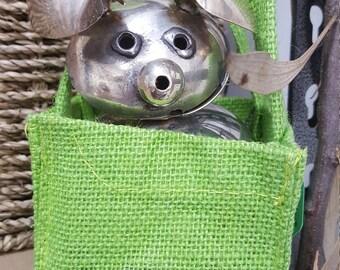 Poppy Pig in a bag
