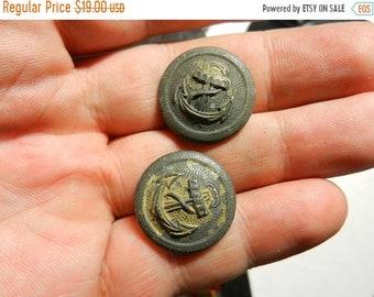 Flash 50% off sale Vintage WW2 Navy Military Uniform Buttons