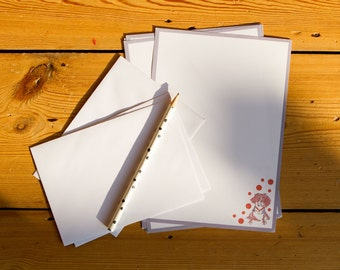 A5 Recycled Notepaper - Dog Print