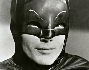 Adam West #5, Batman publicity portrait, Robin, Burt Ward, DC, Gotham City, Batmobile, Joker, black & white photo, photograph fine art print