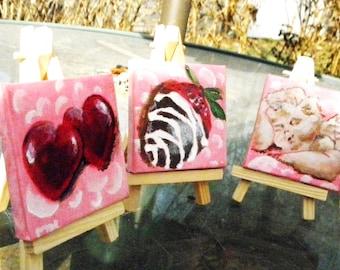 Valentine Trio-- Original Art