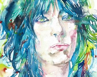 PATTI SMITH - original watercolor portrait - one of a kind!