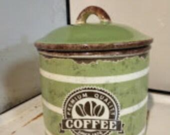 Retro Ceramic Coffee Canister