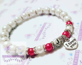 Valentine I Love You Handmade Bracelet