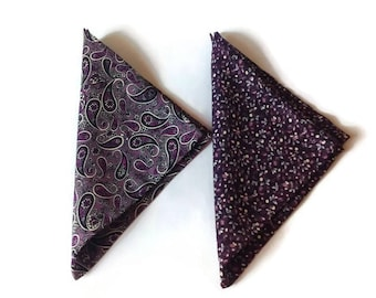 for men/gift idea/plum paisley pocket square aubergine liberty floral mens hanky/gift for boyfriend/gift for husband/gift for men/gift groom