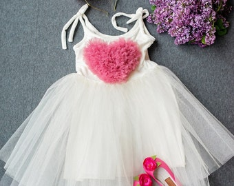 White Romance - Girl dress and  hand-made Hair accessory