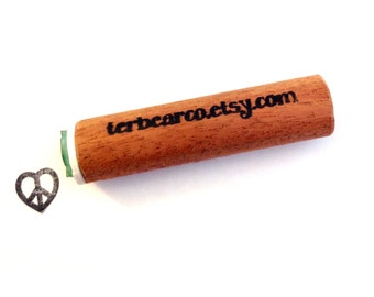 peace heart peg rubber stamp