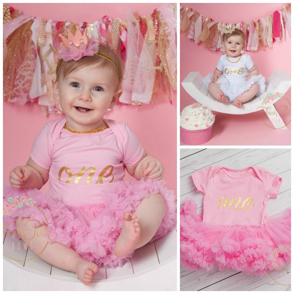 Girls First Birthday Outfit Birthday Tutu Outfit Baby 1st