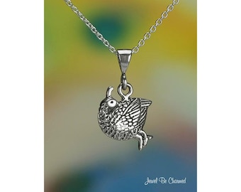"Sterling Silver Quail Necklace with 16-24"" Cable Chain or Pendant Only"