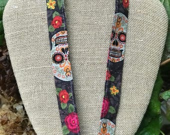 Spanish Teacher Lanyard Art Teacher Lanyard Spanish Art Day of the Dead Skull Lanyard