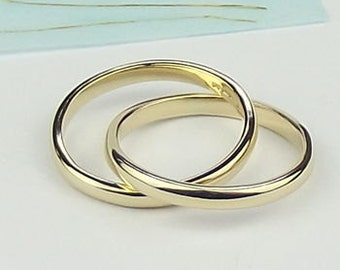 9ct Gold Wedding Ring Granite Texture gold ringgold