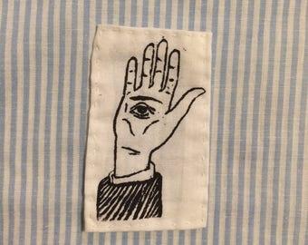 Silk Screened Hand-Eye Patch