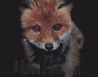 A4 Fox Print from Original Drawing Unmounted