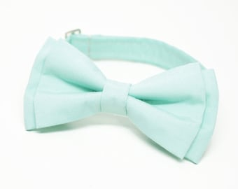 Mint Bow Tie for all ages - pre tied bowtie, wedding, photo prop, best man, ring bearer, church