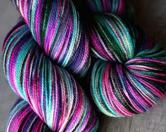 "Sock yarn - 100% SW Merino - Autocorrect - ""I Have Become Comfortably Dumb"""