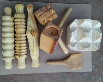 Play Dough Wooden Tool Set with Mats