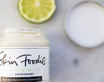 lime + ginger  | organic | deodorant | probiotic | natural deodorant | odor protection