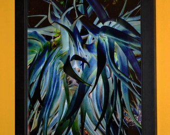 """Blue abstract wall art surreal photography 8x10 """"watercolor painting"""" called Blue LorX, fine art photography"""