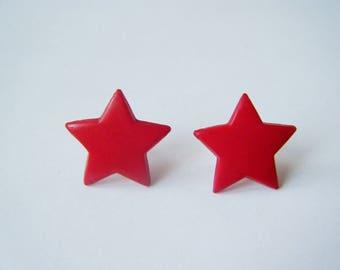 Earrings ♥ ♥ red stars