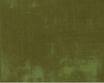 Moda Grunge Fabric, Grunge in Dried Herb, New 2017 Color, Stucco Fabric, Olive Green Cotton Fabric, Green Cotton