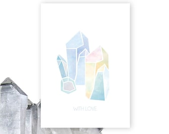 Illustrated Crystal Print Greeting Card