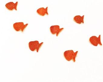 Pesciolini di scorza di arancia di sicilia biologiche essiccate, decorazioni profumate, applicazioni naturali, coriandoli per feste