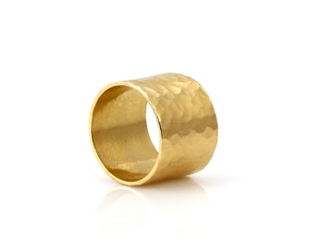 MOTHER'S DAY GIFT - Gold ring,hammered ring,wide ring,handmade ring,wide band,gold filled ring,gold hammered band,simple ring