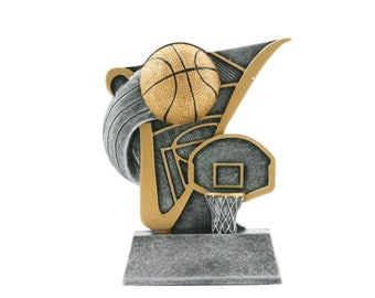 Basketball Resin Award - Free Engraving - Basketball Trophy - Participation Award - Sports Award