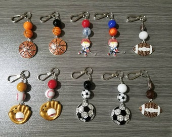 Keychains/bagtags - Sports themed