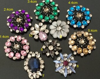 6-20pcs crystal Rhinestones beads sequins clothes dress appliques patches 38560 free ship