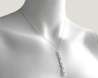 Soul Sister Necklace | Sterling Silver with Diamond