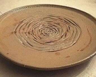 Noborigama, salt fired serving platter