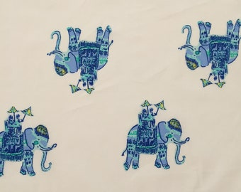 "elephant bazaar organic cotton fabric square 18""x18"" ~ lilly spring 2018 ~ lilly pulitzer ~ pottery barn"