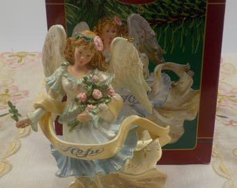 Christmas Ornament - Collectible - Angel of Hope - In Orig Box - Ceramic -  Mint Condition