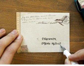 12 Pcs Paper Envelope Set kraft Paper Envelopes DIY Letter Envelopes