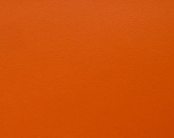 Sheet of thick leather - rust color