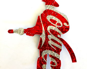 Recycled Soda Can Fireman Magnet/Christmas Ornament