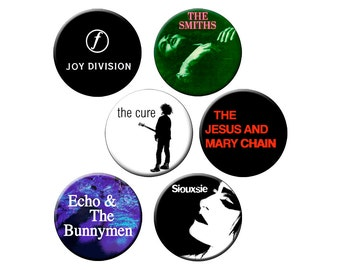 """Indie Badge Pack #9 - Half Dozen Quality 1.25"""" Indie Music Pinback Buttons or Pins"""