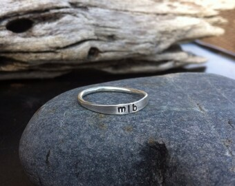 Sterling silver jewelry, Personalized sterling silver stacking ring