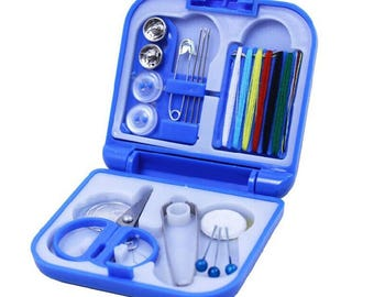 MINI KIT blue / Pocket sewing box