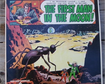 "HIGH  CAMP ADVENTURE Record, ""The First Man in the Moon"", Bell Records, 1960's, Vintage Vinyl L.P. Album"