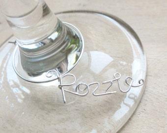 Wine Tags, Wine glass tags set of 9