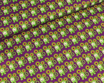 Cotton Poplin small mice on purple (8,50 EUR / meter)