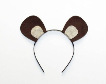 Squirrel chipmunk mouse ferret ears headband birthday party favor supplies theme mice costume woodland invitation decor adult child cosplay
