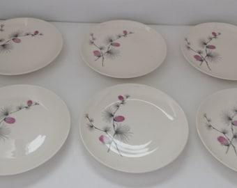 Canonsburg Wild Clover Salad Plates - Set of 6