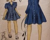 1940s Rare Girls Princess Dress, Sailor Collar DuBarry Pattern 2669B Size 14